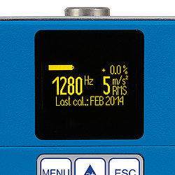 Portable Shaker Vibration Calibrator PCE-VC21 Display