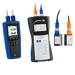 Ultrasonic Flow Tester PCE-TDS 100HS+ incl. Thermometer