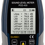 Class 1 Data-Logging Noise Meter / Sound Meter PCE-430 - Display