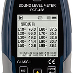 Outdoor Aircraft Noise Meter PCE-428-EKIT display