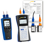 Ultrasonic Flow Tester PCE-TDS 100HS+-ICA incl. Thermometer & ISO Calibration Certificates